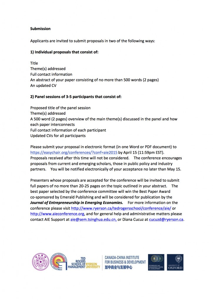 AIE 2015 Call for Abstracts
