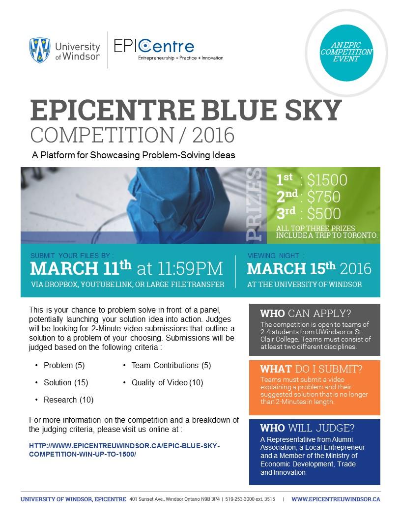 Blue Sky 2016 Flyer