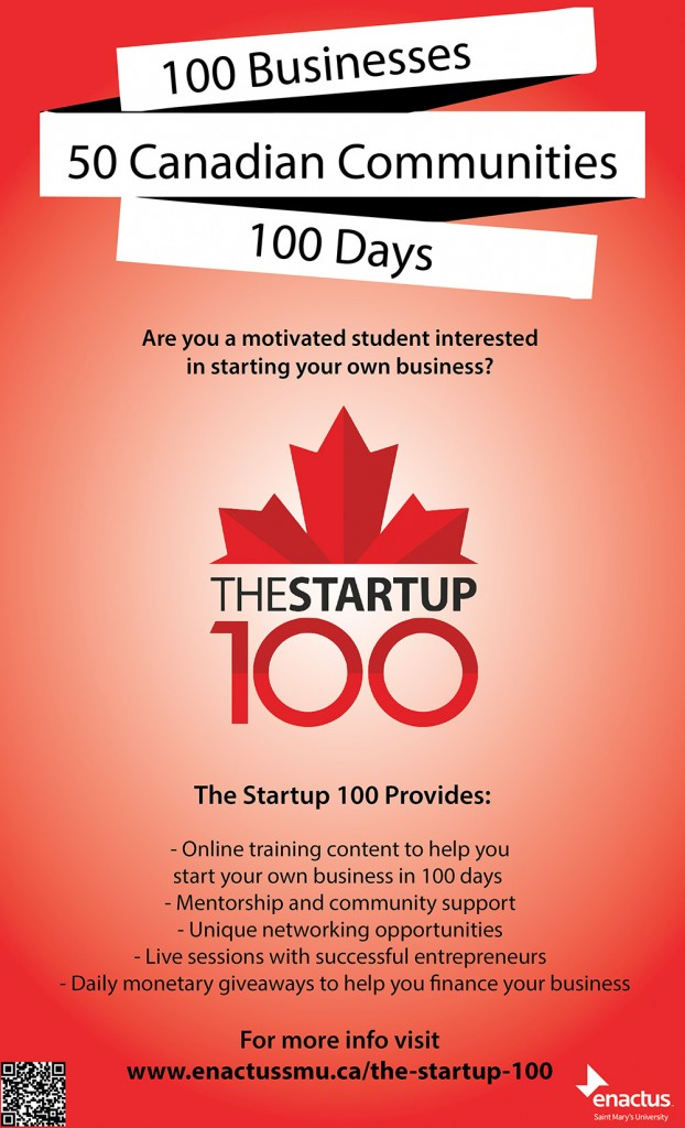 The Startup 100 Flyer