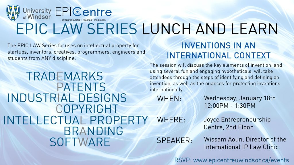 EPIC LAW Series: Patents